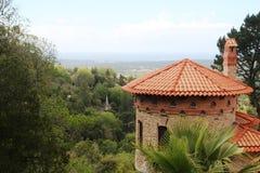 Ein Park am Moor Schloss-Hügel in Sintra, Portugal stockfotografie