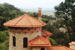 Ein Park am Moor Schloss-Hügel in Sintra, Portugal lizenzfreies stockfoto