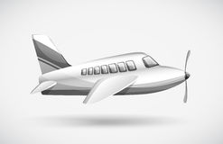 Ein Passagierflugzeug Stockfotografie