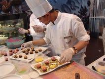 Nahrungsmitteldemonstration Lizenzfreies Stockfoto