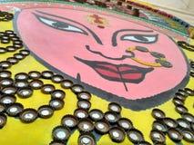 ein perfektes Beispiel besten ou des Abfalls durga pooja Bild Stockbild