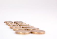 Ein Pfund-Münzen Lizenzfreie Stockfotos