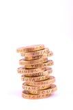 Ein Pfund-Münzen Stockfoto