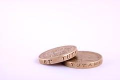 Ein Pfund-Münzen Stockfotos