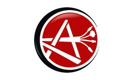Ein Plüsch-Kabel Logo Design Template Lizenzfreie Stockfotos