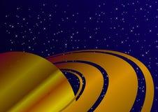 Ein Planet ähnlich Saturn Abbildung vektor abbildung
