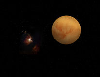 Ein Planet im Raum Stockbild