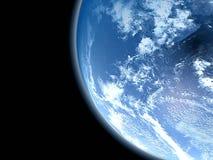 Ein Planet ist im Platz lizenzfreie abbildung