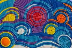 Ein Plasticinebild Ton und Halbton Farblinien vom Plasticine Lizenzfreie Stockfotografie