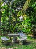 Ein Platz zum Rest im Dschungel Stockfotografie