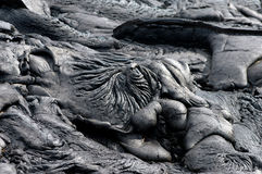 Ein Pool von Lava Stockbild