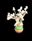 Ein Popcornbaum, eine Kindkreativität Stockbilder