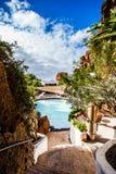 Ein populärer und vertrauter Platz in Nazaret, Lanzarote Stockfoto