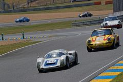 Ein Porsche-Rennen, das 70 Jahre der Fabrik feiert Lizenzfreies Stockbild