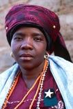 Ein Porträt einer Frau in Südafrika Lizenzfreie Stockbilder