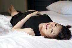 Ein Porträt einer schwangeren Frau Stockfoto