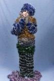 Ein Portrait des Weihnachtsmädchens. Lizenzfreie Stockbilder