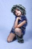 Ein Portrait des Weihnachtsmädchens. Lizenzfreies Stockfoto