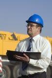 Ein Portrait eines Aufbauingenieurs stockbild