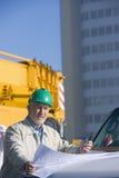 Ein Portrait eines Ingenieurs Stockbilder