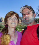 Ein Porträt eines verheirateten Paars in Sedona Lizenzfreie Stockfotografie