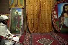 Ein Priester in Lalibela Lizenzfreies Stockbild
