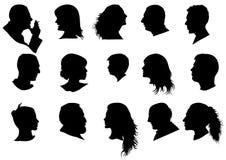 Ein Profil erstelltes Schattenbild Lizenzfreie Stockfotos