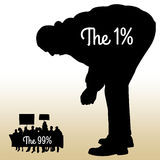 Ein Prozent Bevölkerung Stockfoto