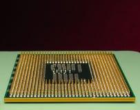 Ein Prozessor (Mikrochip) schielt das Erhalten und das Senden von Informationen zusammen lizenzfreie stockfotos