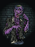 Purpurroter Zombie vektor abbildung
