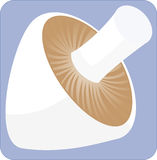 Ein quadratischer Pilz Stockfotografie