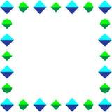 Ein quadratischer Rahmen von Kristallen Stockbild