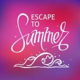 Ein quadratischer Vektorhintergrund mit einer Seewelle Entweichen zum Sommer Eine Schablone für ein Plakat, Karte, Flieger d lizenzfreie stockfotografie