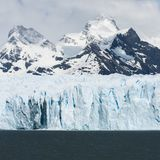 Ein quadratisches Gedächtnis von Perito Moreno lizenzfreie stockfotografie