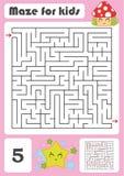 Ein quadratisches Labyrinth Entwicklungsspiel für Kinder Vektorabbildung getrennt auf weißem Hintergrund Farbdesign mit nettem Wa Vektor Abbildung