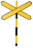 Ein queres gelbes Zeichen Lizenzfreies Stockfoto