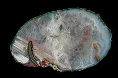 Ein Querschnitt des Achats Stockfotos
