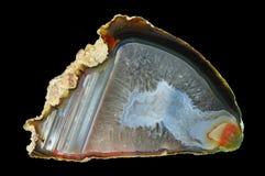 Ein Querschnitt des Achatsteins Stockbild