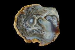 Ein Querschnitt des Achatsteins Stockbilder