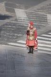 Ein römischer Gladiator mit Klinge Lizenzfreie Stockfotografie