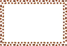 Ein Rahmen des Herbstlaubs Vektor lizenzfreie abbildung