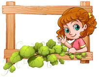 Ein Rahmen mit einem netten jungen Mädchen Lizenzfreies Stockfoto