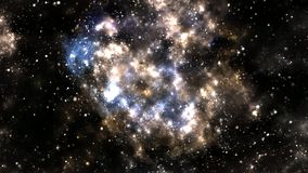 Ein Raum der Galaxie, Atmosphäre mit Sternen am dunklen Hintergrund stockfotografie