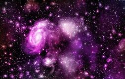 Ein Raum der Galaxie, Atmosphäre mit Sternen am dunklen Hintergrund lizenzfreies stockfoto