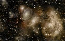 Ein Raum der Galaxie, Atmosphäre mit Sternen am dunklen Hintergrund stockfotos