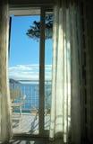 Ein Raum mit einer Ansicht Stockfotos