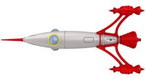 Ein Raumschiff Getrennt stock abbildung