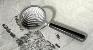 Lupe und Fingerabdruck vektor abbildung