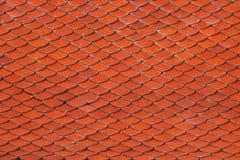 Ein regelmäßiges Muster von Dachplatten in einem Tempel in Thailand Lizenzfreies Stockbild