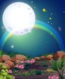 Ein Regenbogen während der Nachtzeit vektor abbildung